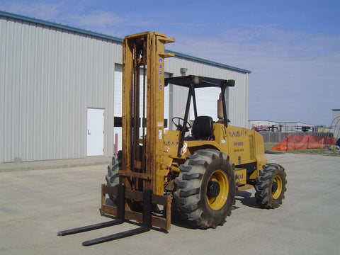 "2011 HARLO HP8500 8500 LB DIESEL 4x4 FORKLIFT PNEUMATIC 264"" 3 STAGE MAST SIDE SHIFTER 3750 HOURS STOCK # BF9670839-KENB"