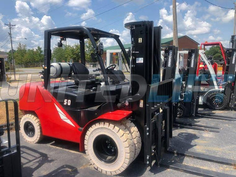 "BRAND NEW 2020 HANGCHA CPYD45 10000 LB FORKLIFT LP PNEUMATIC 91/185"" 3 STAGE MAST SIDE SHIFTER STOCK # BF9411129-PNCB"