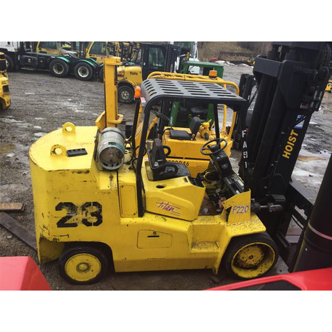 "2008 HOIST F220 22000 LB LP GAS FORKLIFT CUSHION 103"" 2 STAGE MAST SIDE SHIFTING FORK POSITIONER 268 HOURS STOCK # BF9636759-779-OWOHB"