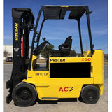 2010 HYSTER E100ZS 10000 LB ELECTRIC CUSHION 92/185 3 STAGE MAST SIDE SHIFTER 2242 HOURS STOCK # BF9187529-269-INB