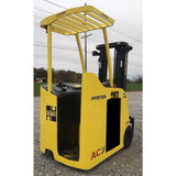 2008 HYSTER E30HSD 3000 LB ELECTRIC DOCK STOCKER FORKLIFT 82/189 3 STAGE MAST STOCK # BF986739-INB