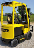 "2016 HYSTER E50XN-33 5000 LB CAPACITY ELECTRIC CUSHION 88/200"" LIFT HEIGHT 3 STAGE MAST SIDE SHIFTER 2648 HOURS STOCK # BF9145389-INB"