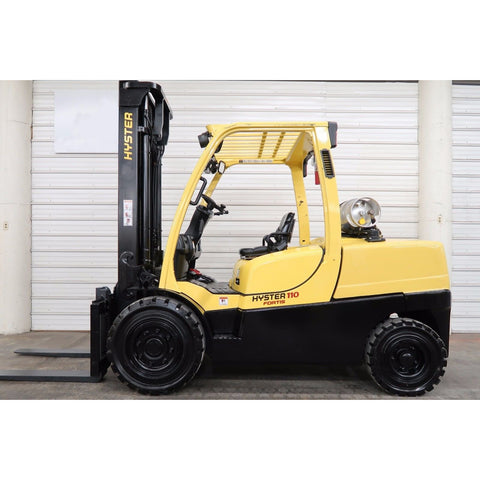 2007 HYSTER H110FT 11000 LB LP GAS FORKLIFT PNEUMATIC 109/153 2 STAGE MAST SIDE SHIFTER 6488 HOURS STOCK # BF18750-DPA ** ONLY $578.00 PER MONTH **