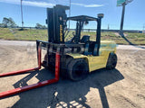 2005 HYSTER H155XL2 15000 LB DIESEL FORKLIFT PNEUMATIC 3 STAGE MAST SIDE SHIFTER DUAL TIRES 5700 HOURS STOCK # BF9231459-AXTX