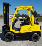 "2013 HYSTER H50FT 5000 LB LP GAS FORKLIFT PNEUMATIC 93/216"" 3 STAGE MAST 6150 HOURS STOCK # BF9165329-INB"