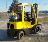 2011 HYSTER H60FT 6000 LB LP GAS FORKLIFT PNEUMATIC 89/188 3 STAGE MAST SIDE SHIFTER 2 IDENTICAL UNITS AVAILABLE HOURS STOCK # BF9155329-219-INB