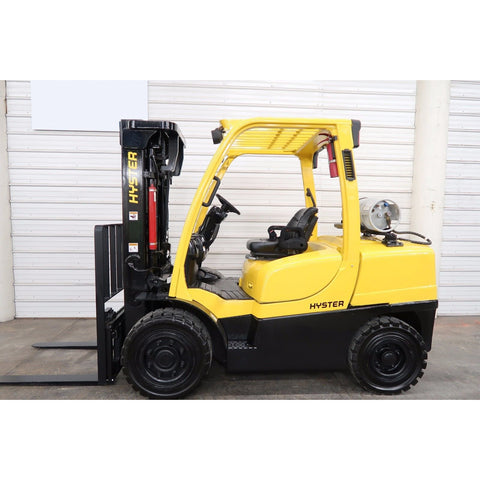 2008 HYSTER H90FT 9000 LB LP GAS FORKLIFT PNEUMATIC 89/185 3 STAGE MAST SIDE SHIFTER 4500 HOURS STOCK # BF18739-DPA ** ONLY $600.00 PER MONTH **