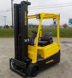 "2014 HYSTER J35XNT 3500 LB ELECTRIC FORKLIFT PNEUMATIC 94/216"" 3 STAGE MAST SIDE SHIFTER 3262 HOURS STOCK # BF9130129-INB - United Lift Used & New Forklift Telehandler Scissor Lift Boomlift"