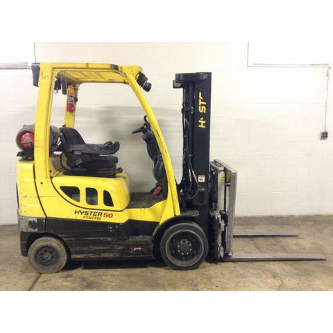 2013 HYSTER S50FT 5000 LB LP GAS FORKLIFT CUSHION 83/189 3 STAGE MAST SIDE SHIFTER STOCK # BF999179-159-DFOH