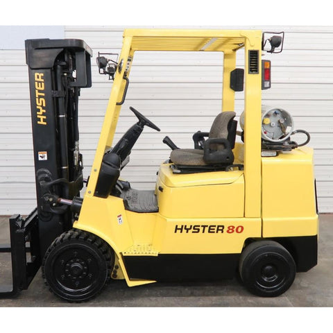 2004 HYSTER S80XM 8000 LB LP GAS FORKLIFT CUSHION 84/173 3 STAGE MAST SIDE SHIFTER 2316 HOURS STOCK # BF02781-DPA ** ONLY $415.00 PER MONTH ** - united-lift-equipment