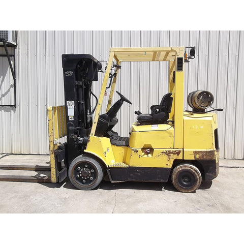 2004 HYSTER S80XM 8000 LB DUAL FUEL FORKLIFT CUSHION 83/173 3 STAGE MAST SIDE SHIFTER 2689 HOURS STOCK # BF9119599-199-MYRNEWT - united-lift-equipment