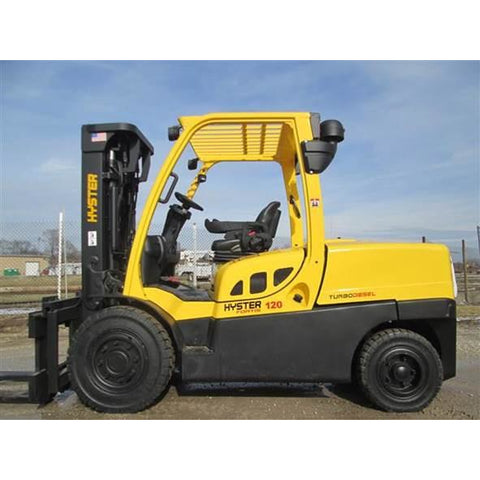 2013 HYSTER H120FT 12000 LB DIESEL FORKLIFT PNEUMATIC 91/175 3 STAGE MAST SIDE SHIFTER 2900 HOURS STOCK # BF9295029-399-RIL2 $34,900 - Buffalo Forklift LLC