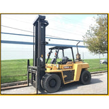 2002 CATERPILLAR DP90 20000 LB DIESEL FORKLIFT DUAL TIRE PNEUMATIC 170/219 2 STAGE MAST SIDE SHIFTER 6060 HOURS STOCK # BF9425329-599-ATL - Buffalo Forklift LLC