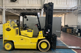2013 HOIST F220 22000 LB LP GAS FORKLIFT CUSHION 111/126 2 STAGE MAST SIDE SHIFTER FORK POSITIONER STOCK # BF9786759-949-OWOHB