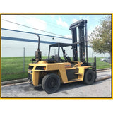2002 CATERPILLAR DP90 20000 LB DIESEL FORKLIFT DUAL TIRE PNEUMATIC 170/219 2 STAGE MAST SIDE SHIFTER 6060 HOURS STOCK # BF9425329-599-ATL - united-lift-equipment