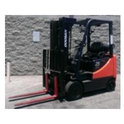 2008 DOOSAN G25P-5 5000 LB LP GAS FORKLIFT CUSHION 83/186 3 STAGE MAST SIDE SHIFTER STOCK # BF9959-OSCA