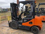 2008 DOOSAN G25E-3 5000 LB DUAL FUEL FORKLIFT PNEUMATIC 86/188 3 STAGE MAST SIDE SHIFTER 757 HOURS STOCK # BF911529-MTX