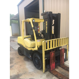 2013 HYSTER H120FT 12000 LB DIESEL FORKLIFT PNEUMATIC 87/185 3 STAGE MAST SIDE SHIFTER STOCK # BF9319409-439-KTE