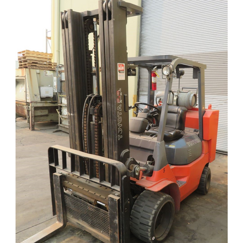 2012 TOYOTA FGCU45-BCS 8000 LB LP GAS FORKLIFT CUSHION 95/201 3 STAGE MAST SIDE SHIFTER 3522 HOURS STOCK # BF91759-CRCA