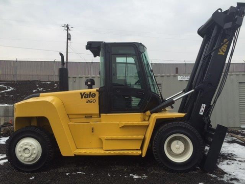 "2015 YALE GDP360 36000 LB DIESEL FORKLIFT PNEUMATIC 192/244"" 2 STAGE MAST STOCK # BF911879-PEAZ"