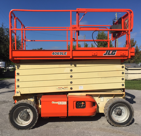 2012 JLG 4069LE SCISSOR LIFT 40' REACH ELECTRIC PNEUMATIC TIRES 360 HOURS STOCK # BF19529-PEFL - united-lift-equipment