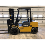 2001 CATERPILLAR GP30 6000 LB LP GAS FORKLIFT PNEUMATIC 94/150 2 STAGE MAST SIDE SHIFTER 6350 HOURS PNEUMATIC TIRE STOCK # BF91479-PRIL - united-lift-equipment