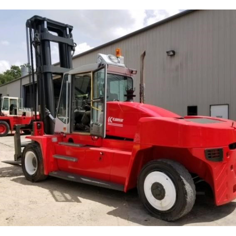 2004 Kalmar DCE160 36000 LB CAPACITY DIESEL FORKLIFT PNEUMATIC 168/217 3 STAGE MAST ENCLOSED CAB SIDE SHIFTING FORK POSITIONER STOCK # BF98959-LMXT - united-lift-equipment