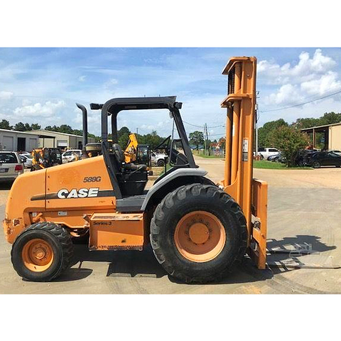 2010 CASE 588G 8000 LB 2WD DIESEL ROUGH TERRAIN FORKLIFT PNEUMATIC 3 STAGE MAST 3050 HOURS STOCK # BF936759-439-EASLA
