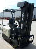 2006 CROWN SC540-40 4000 LB 36 VOLT ELECTRIC 3 WHEEL FORKLIFT 86/246 QUAD MAST SIDE SHIFTER STOCK # BF912219-MHIL