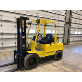 "2000 HYSTER H60XM 6000 LB LP GAS FORKLIFT PNEUMATIC 181"" MAST 3 STAGE MAST SIDE SHIFTER 9570 HOURS STOCK # BF91259-189-PRIL - united-lift-equipment"