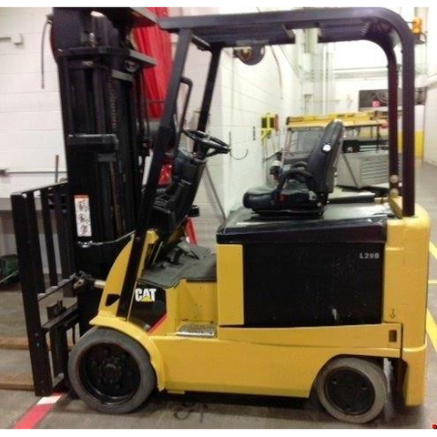 "2008 CATERPILLAR EX5500 5500 LB ELECTRIC FORKLIFT CUSHION 93/218"" 3 STAGE MAST SIDE SHIFTER 2322 HOURS STOCK # BF9115019-UGA"