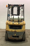 "2009 CATERPILLAR P6000 6000 LB LP GAS FORKLIFT PNEUMATIC 84/186"" 3 STAGE MAST SIDE SHIFTER FORK POSITIONER STOCK # BF9149239-PEOH - united-lift-equipment"