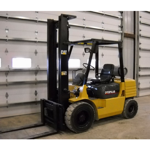 2000 CATERPILLAR GP30 6000 LB LP GAS FORKLIFT PNEUMATIC 94/150 2 STAGE MAST SIDE SHIFTER 10550 HOURS PNEUMATIC TIRE STOCK # BF91149-PRIL - united-lift-equipment
