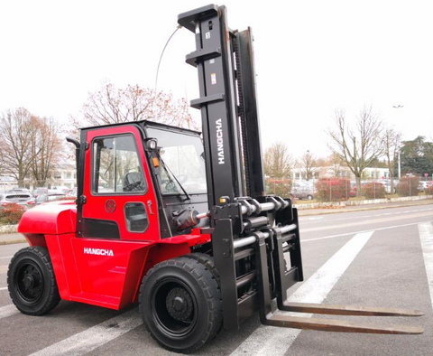 2019 HANGCHA XF-80 17500 LB FORKLIFT DIESEL PNEUMATIC 118/141 3 STAGE MAST SIDE SHIFTER STOCK # BF9706159-PENC - united-lift-equipment