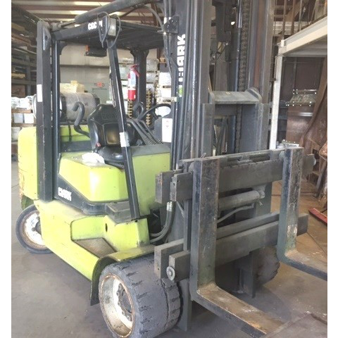 2005 CLARK GC70 15500 LB LP GAS FORKLIFT CUSHION 98/117 2 STAGE MAST SIDE SHIFTER STOCK # BF9161269-299-USC