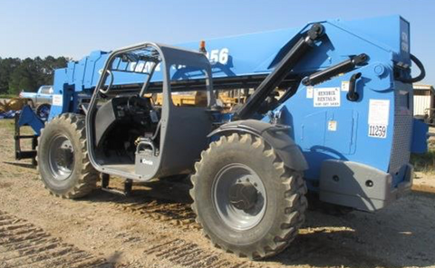 2012 GENIE GTH1056 10000 LB DIESEL TELESCOPIC FORKLIFT TELEHANDLER ENCLOSED CAB PNEUMATIC 4WD STOCK # BF9696309-PETX - united-lift-equipment