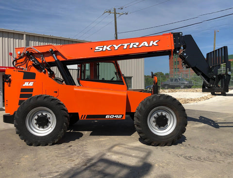 2019 SKYTRAK 6042 6000 LB DIESEL TELESCOPIC FORKLIFT TELEHANDLER PNEUMATIC 4WD ENCLOSED CAB BRAND NEW STOCK # BF9865129-HLIL