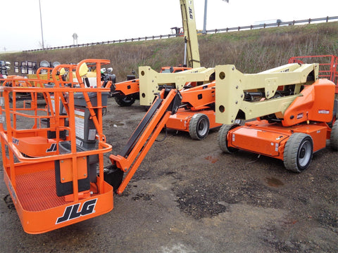 2020 JLG E450AJ ARTICULATING BOOM LIFT AERIAL LIFT WITH JIB ARM 45' REACH ELECTRIC BRAND NEW STOCK # BF9545189-VAOH - United Lift Used & New Forklift Telehandler Scissor Lift Boomlift
