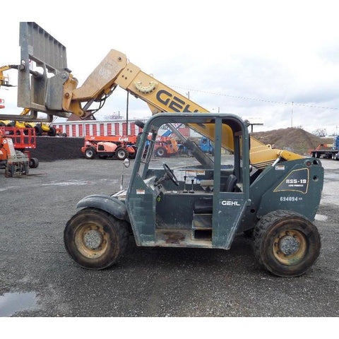 2007 GEHL RS5-19 5500 LB DIESEL TELESCOPIC FORKLIFT TELEHANDLER PNEUMATIC 4WD STOCK # BF9338-VAL