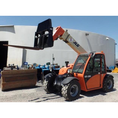 2008 JLG G5-18A 5500 LB DIESEL TELESCOPIC ENCLOSED CAB FORKLIFT 4WD 2400 HOURS STOCK #  BF70499-MYRSYC