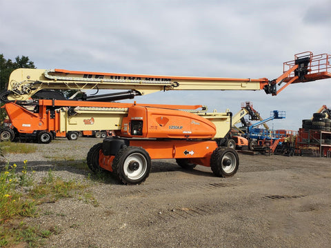 2018 JLG 1250AJP ARTICULATING BOOM LIFT AERIAL LIFT WITH JIB ARM 125' REACH DIESEL 4WD 146 HOURS STOCK # BF91972149-VAOH - United Lift Used & New Forklift Telehandler Scissor Lift Boomlift