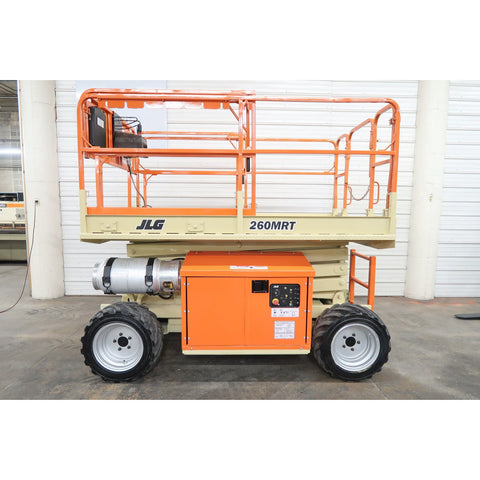 2008 JLG 260MRT SCISSOR LIFT 26' REACH DUAL FUEL ROUGH TERRAIN 4WD 2230 HOURS STOCK # BF18713-DPA