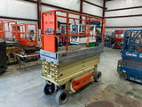 2012 JLG 2630ES SCISSOR LIFT 26' REACH ELECTRIC CUSHION TIRES 428 HOURS STOCK # BF989329-BAYTX