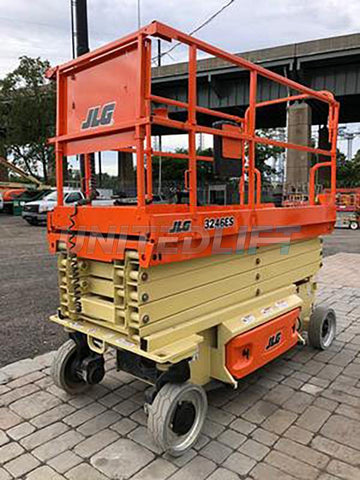 2016 JLG 3246ES SCISSOR LIFT 32' REACH ELECTRIC SMOOTH CUSHION TIRES 84 HOURS STOCK # BF9138759-NLE