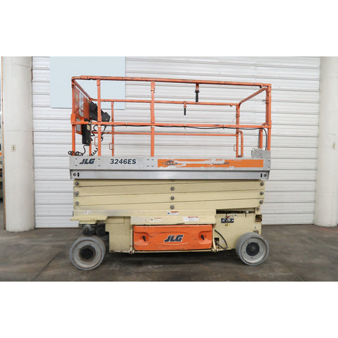 2008 JLG 3246ES SCISSOR LIFT 32' REACH ELECTRIC SMOOTH CUSHION TIRES 495 HOURS STOCK # BF02757-DPA