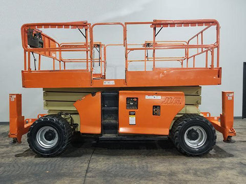 2011 JLG 3394RT SCISSOR LIFT ROUGH TERRAIN 33' REACH DIESEL OUTRIGGERS 1480 HOURS STOCK # BF9199529-ILIL