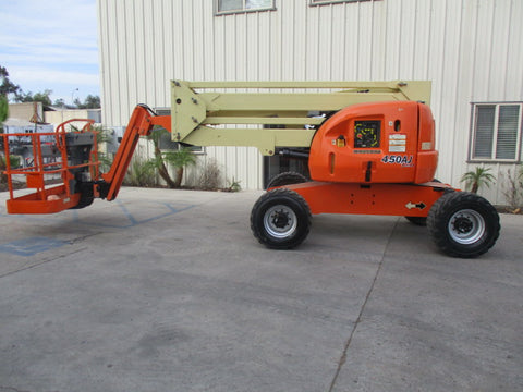 2013 JLG 450AJ ARTICULATING BOOM LIFT AERIAL LIFT WITH JIB 45' REACH DIESEL 4WD 1895 HOURS STOCK # BF9295159-PABCA