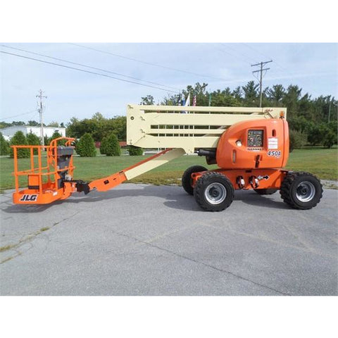 2007 JLG 450A ARTICULATING BOOM LIFT AERIAL LIFT 45' REACH DUAL FUEL 4WD 2517 HOURS STOCK # BF9226409-279-PAB