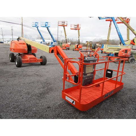 2005 JLG 460SJ TELESCOPIC BOOM LIFT AERIAL LIFT WITH JIB ARM 46' REACH DIESEL 4WD 3716 HOURS STOCK # BF9327669-389-BNYB - Buffalo Forklift LLC