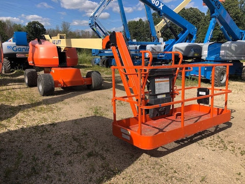 2015 JLG 460SJ STRAIGHT BOOM LIFT AERIAL LIFT WITH JIB ARM 46' REACH DIESEL 4WD 905 HOURS STOCK # BF9544529-WIB